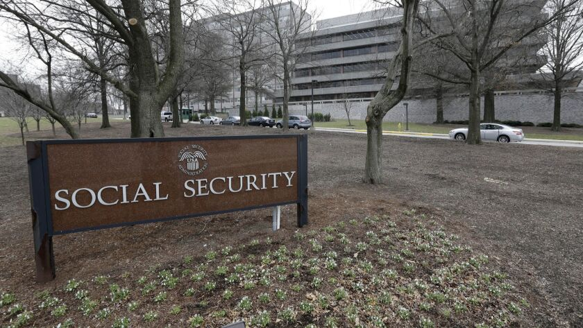 Shown are the headquarters of the Social Security Administration in Maryland.