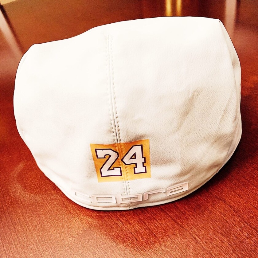 Bryson DeChambeau will be honoring the late Kobe Bryant by wearing a purple and yellow No. 24 behind his hat.