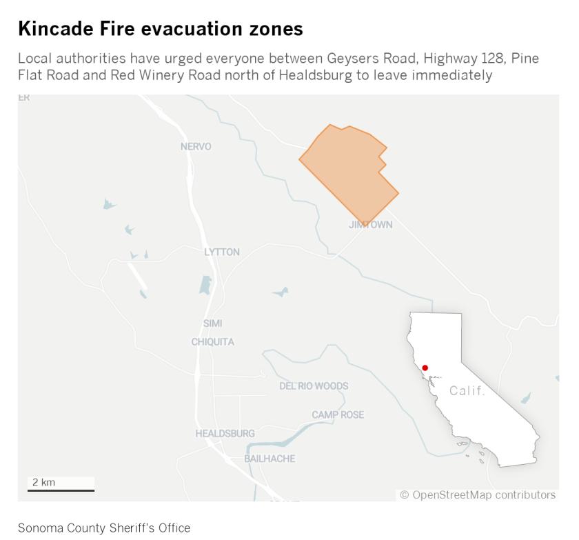 Kincad Fire Evacuation Card