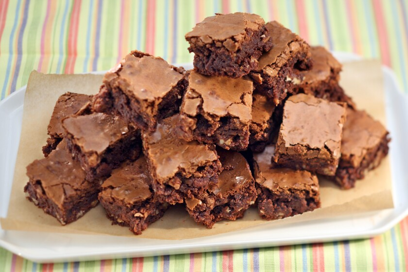 Fudgy brownies that call for a glass of milk