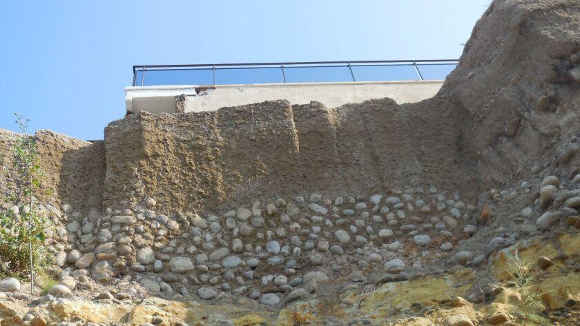 The unpermitted seawall on 417 Sea Ridge Drive