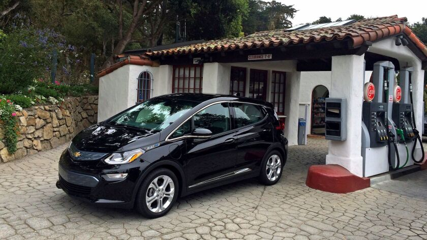 MONTEREY, CA. - SEPTEMBER 09, 2015: The EPA rated the 2017 Chevrolet Bolt EV at 238 miles per charge