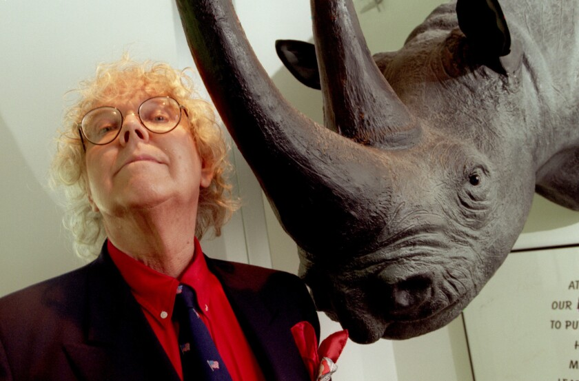 Stan Freberg at the offices of Rhino Records in Westwood in 1996.