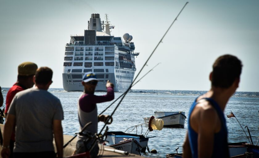 A Royal Caribbean cruise ship departs Havana in June after President Trump put an end to American cruise visits to Cuba.