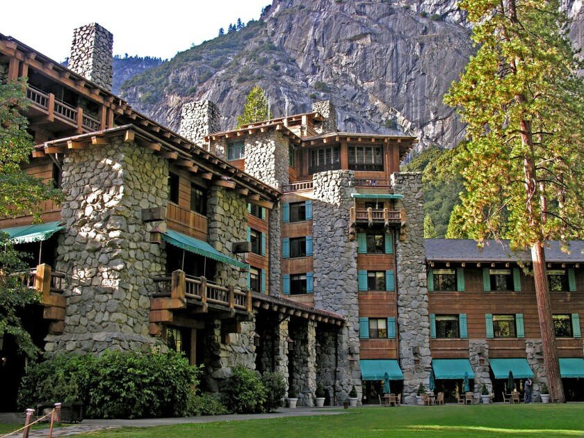 The Ahwahnee Hotel at Yosemite National Park was designated a National Historic Landmark in 1987.