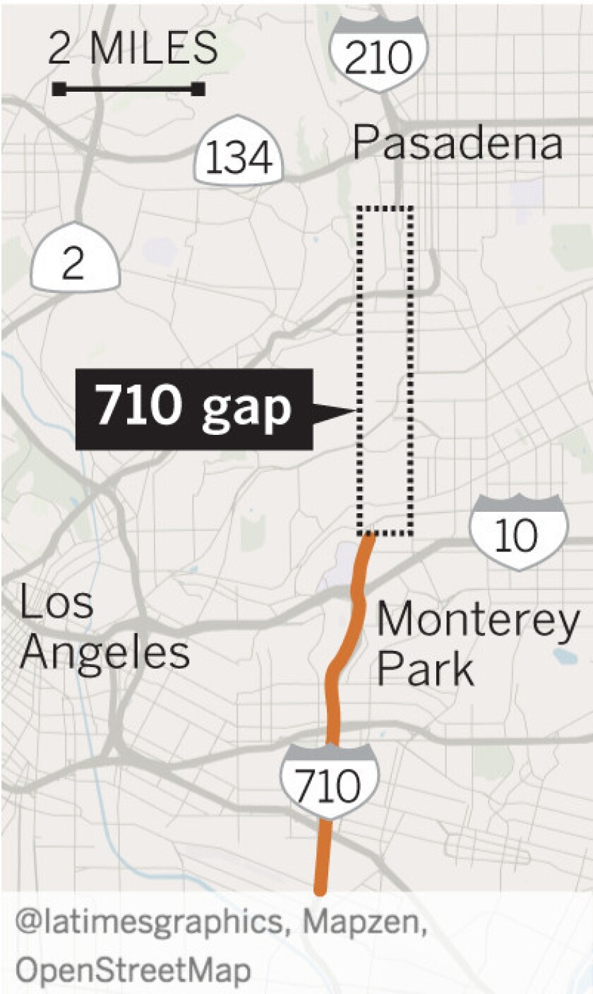 Where the 710 ends