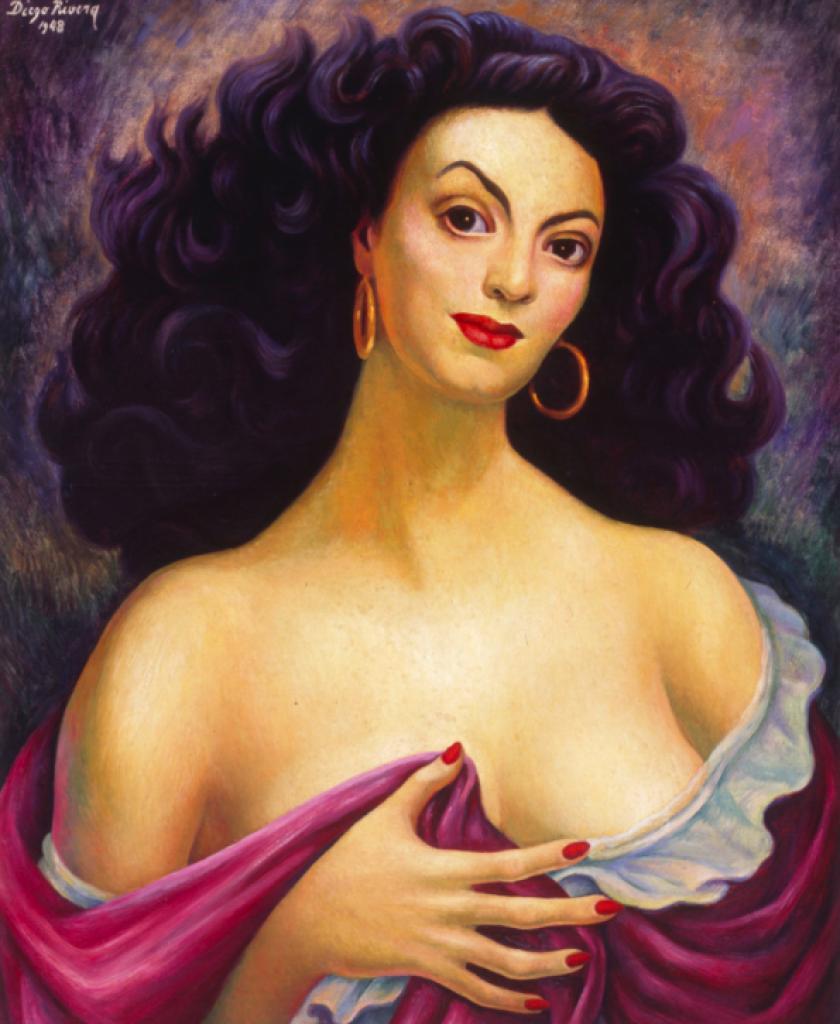 Diego Rivera's portrait of Maria Felix.