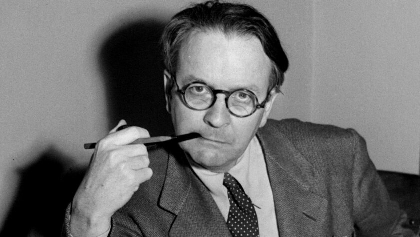 Mystery novelist and screenwriter Raymond Chandler, shown in a 1946.