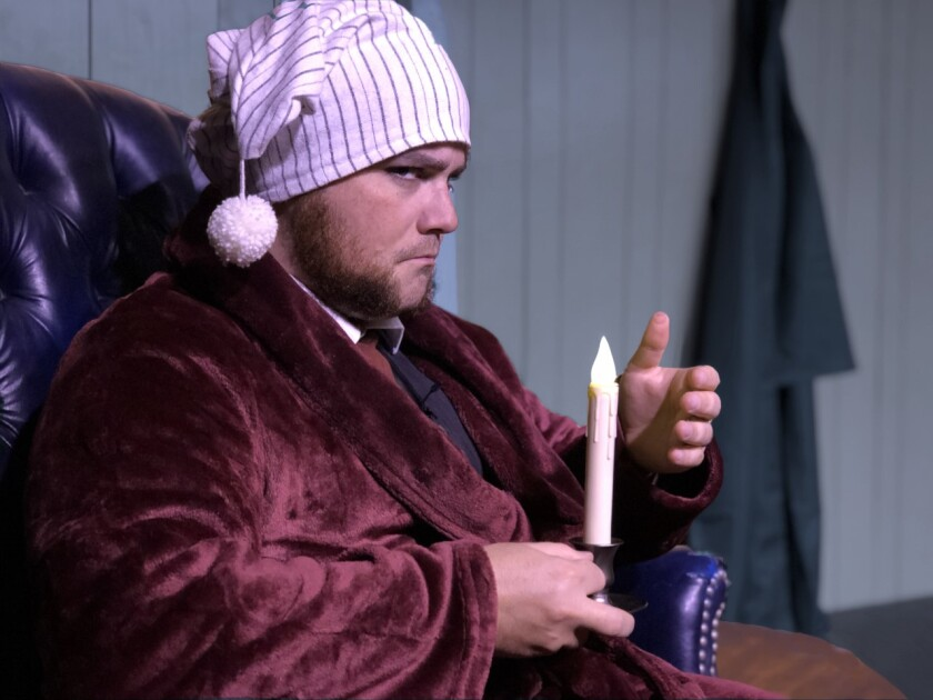 """Gus Krieger's one-man version of """"Carol"""" will play in Mammoth Lakes through December."""