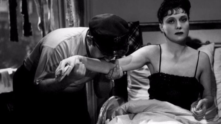 "French screen legend Arletty, right, plays a prostitute in Marcel Carné's 1938 drama ""Hôtel du Nord."