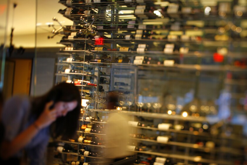 Wine tower at Drago Centro