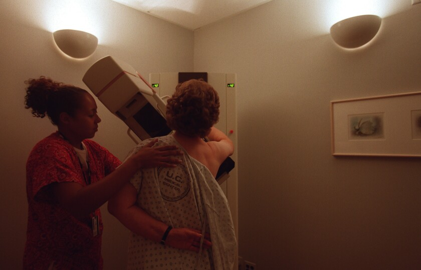 Screening mammography