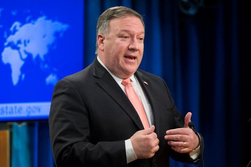 El secretario de Estado de EE.UU., Mike Pompeo, ofrece una rueda de prensa. EFE/Archivo