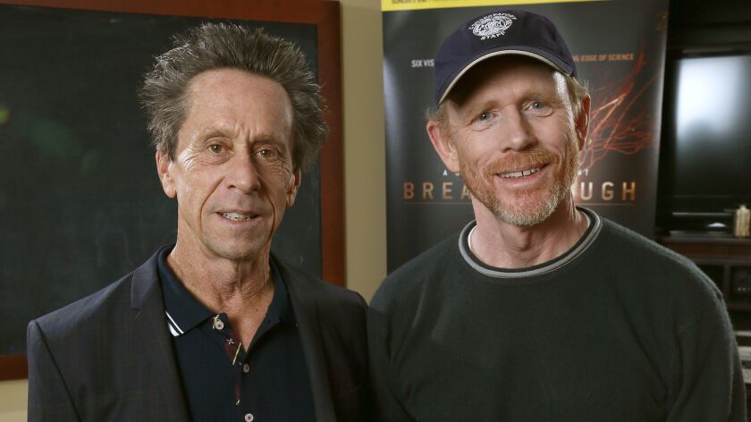 BEVERLY HILLS, CA - OCTOBER 26, 2015 - Ron Howard and Brian Grazer, the creative team behind Nat Geo