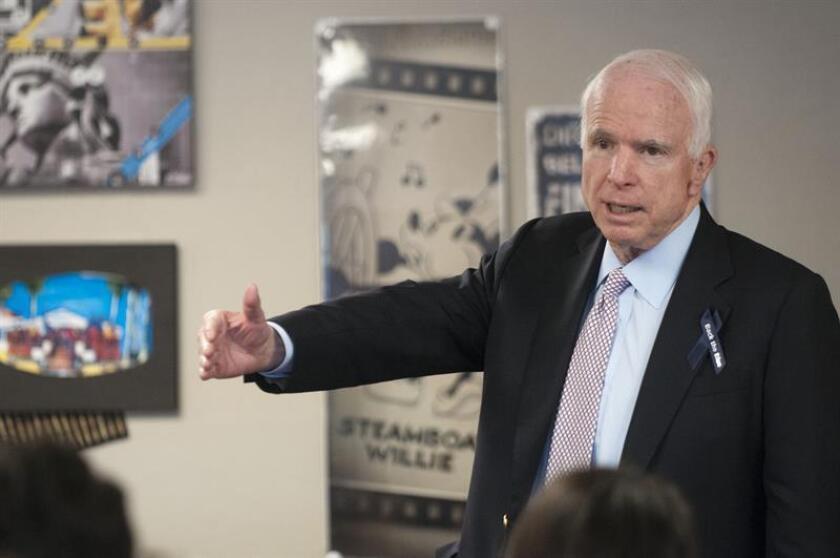 El senador republicano por Arizona John McCain. EFE/Archivo