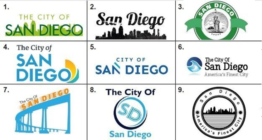Logo options for City of San Diego