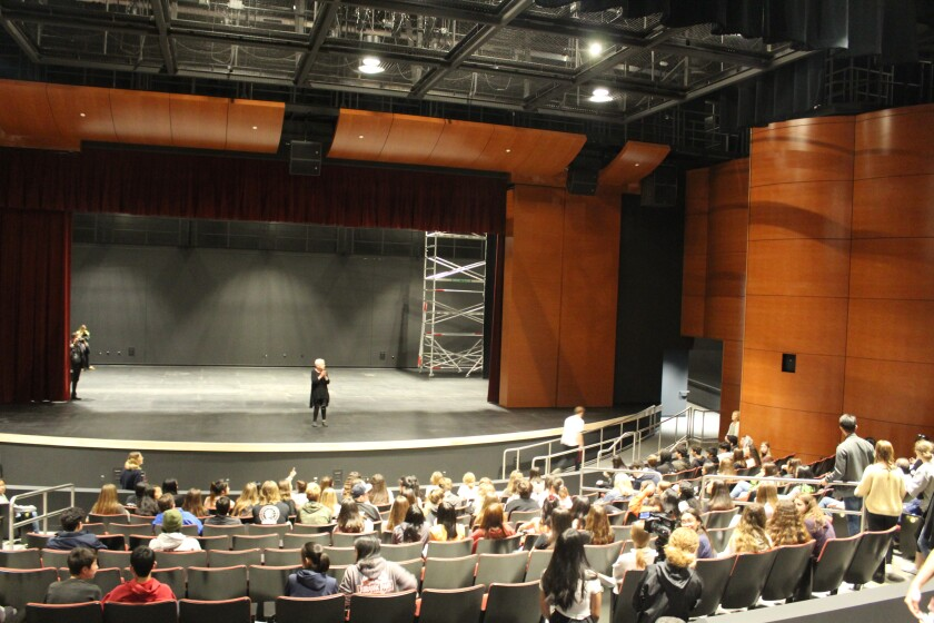 The new performing arts center at Torrey Pines High.