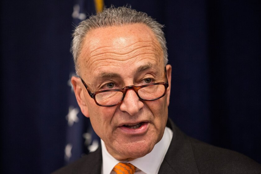 Sen. Charles E. Schumer (D-N.Y.) announced Tuesday that Democratic senators will vote on a resolution to void Trump's border emergency declaration.