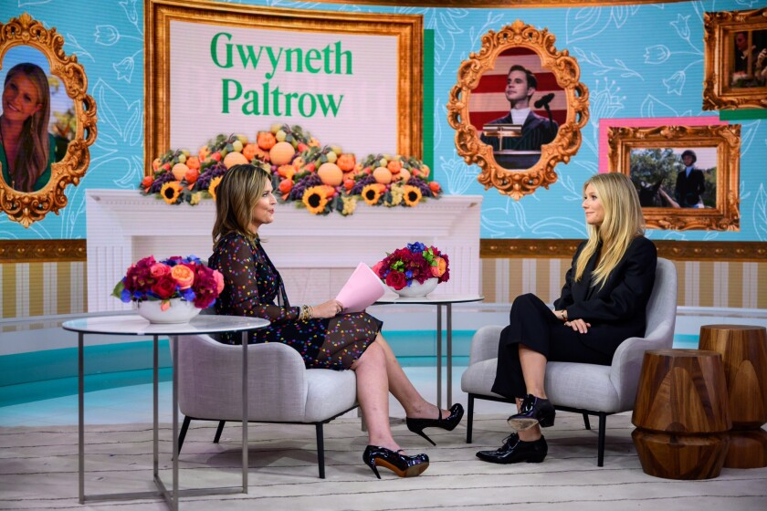 Gwyneth Paltrow en el programa 'Today' de NBC.
