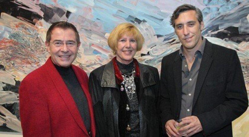Luis and Marsha Nunez with Lux artist in residence Emilio Perez (Photo: Jon Clark)