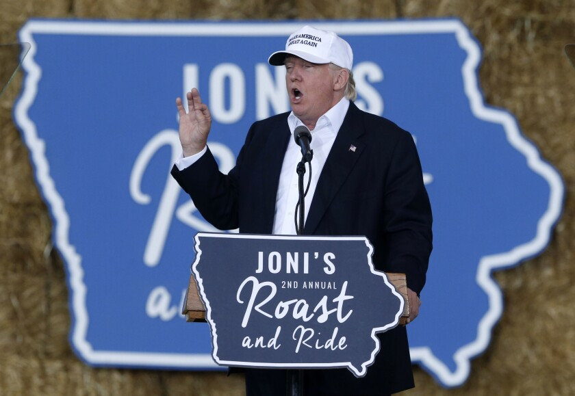 In a sign of political trouble stemming from the coronavirus pandemic, President Trump's reelection campaign has bought television ads in Iowa, a state that he easily won in 2016 but appears to be in play for November.