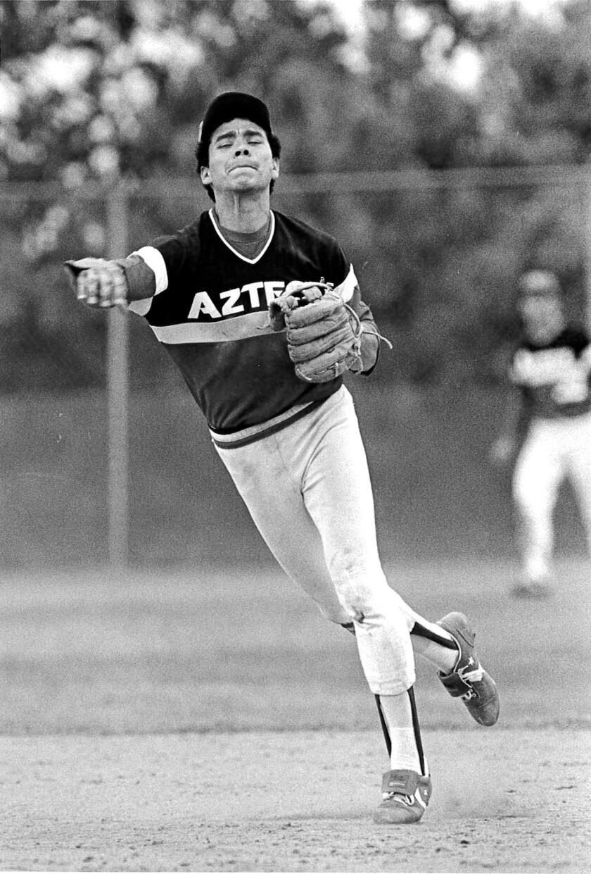 Flavio Alfaro starred for San Diego State in 1983-84.