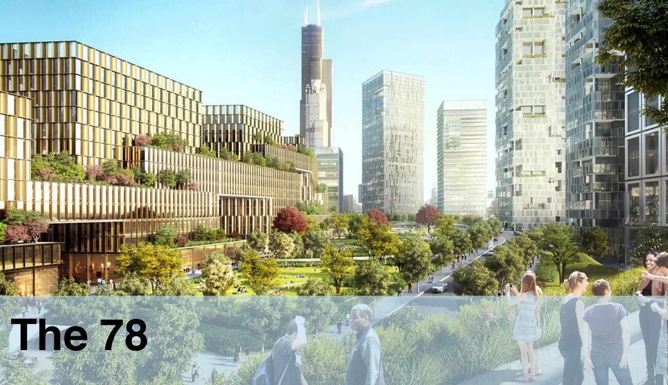 """The 78, a 62-acre plot of land south of the Loop and primed for redevelopment, is one option offered to Amazon by the city. It """"represents one of the most ambitious and transformative development projects in Chicago's history,"""" the city said, and is the site of a proposed tech incubator from the University of Illinois."""
