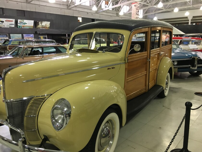 Classic cars on display at San Diego Automotive Museum
