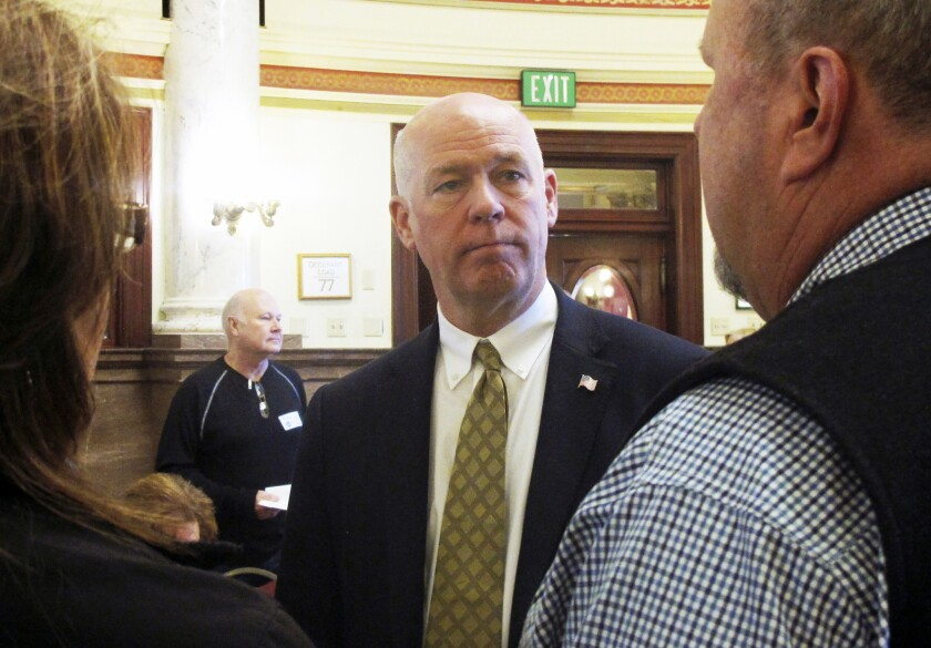 Greg Gianforte, the Republican who won Montana's at-large congressional seat on Thursday, is seen on May 7 in Helena.