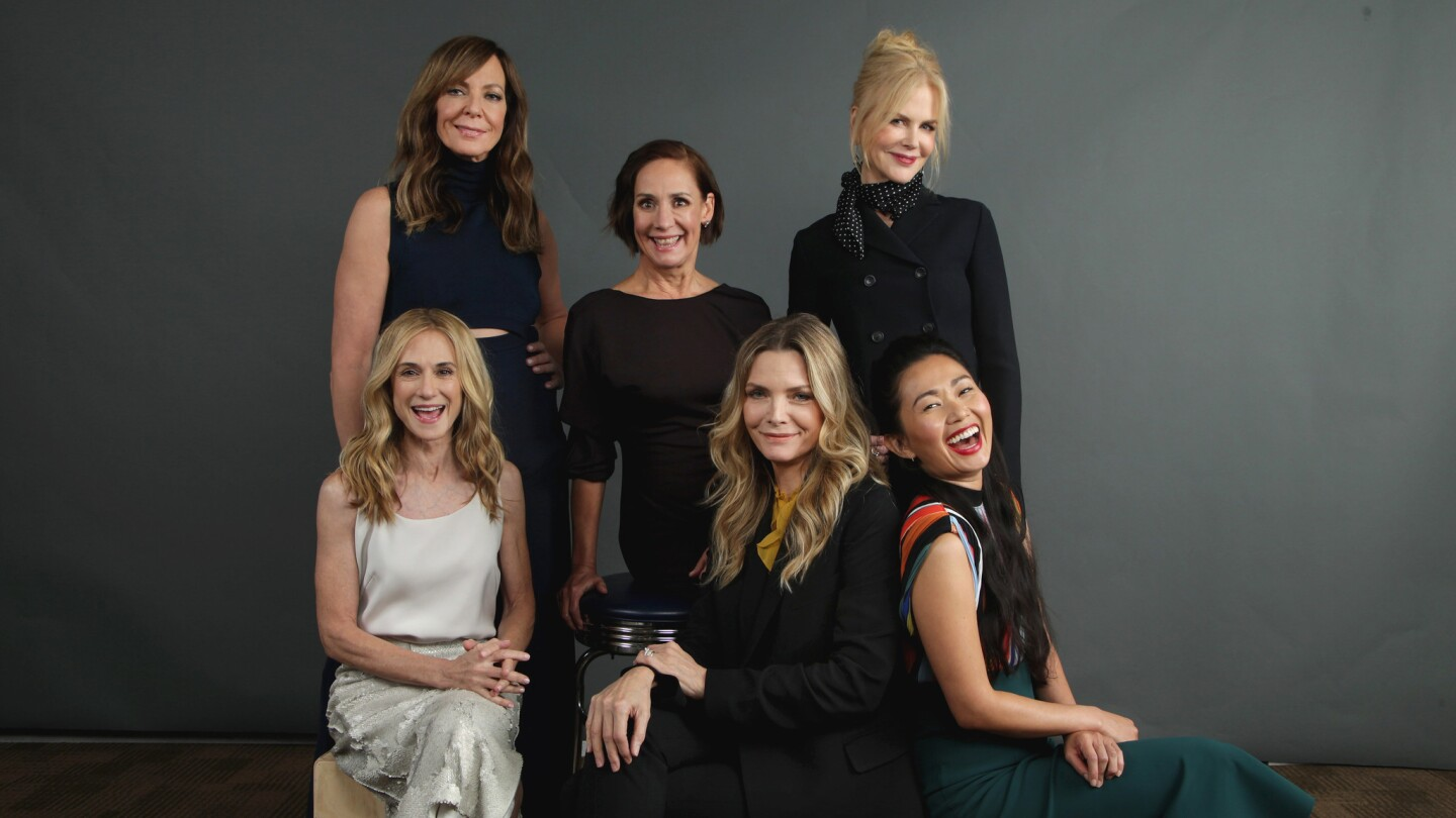 Actresses Holly Hunter, from left, Allison Janney, Laurie Metcalf, Michelle Pfeiffer, Nicole Kidman and Hong Chau gathered for the Envelope Roundtable to talk about today's Hollywood.