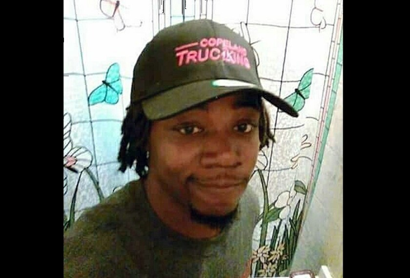 A photo released by Javille Burns shows her brother, Jamar Clark, who was shot Nov. 15 after a confrontation with two police officers. He died a day later.