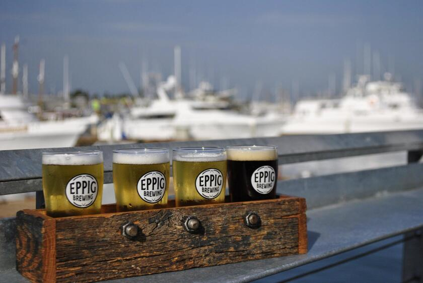 Eppig Brewing's waterfront biergarten in Point Loma is at 2817 Dickens St.