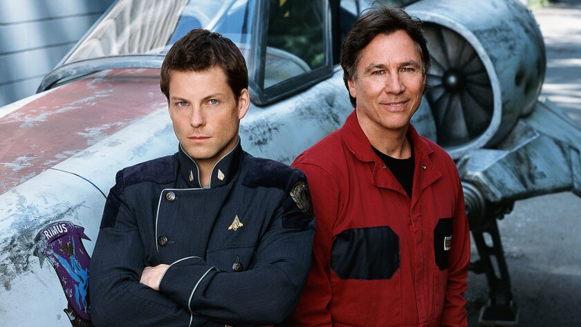 "Jamie Bamber as Capt. Lee Adama (Apollo), Richard Hatch (the original Apollo"") now playing Peter Zarek."