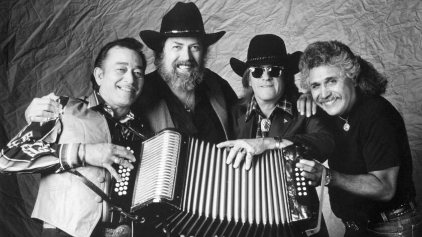 Flaco Jimenez, Augie Meyers, Doug Sahm and Freddy Fender of the Texas Tornados
