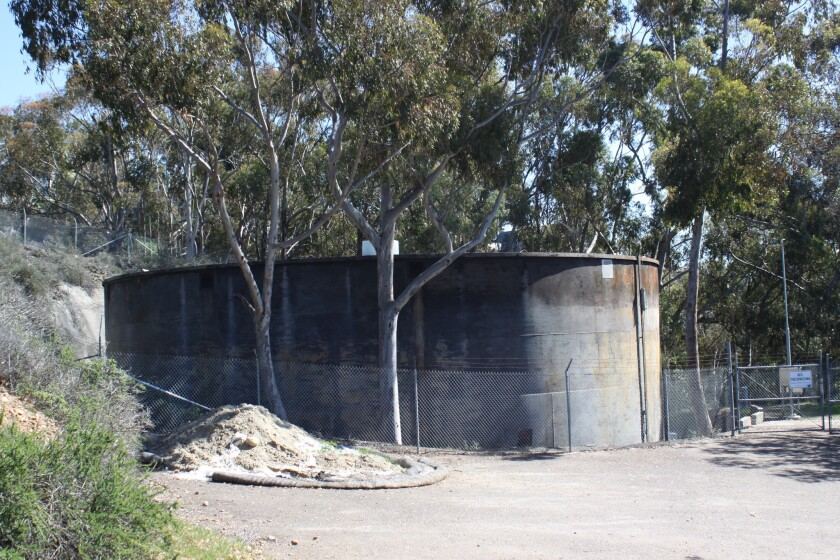 The La Jolla View Reservoir in La Jolla Heights Natural Park is planned to be demolished and replaced.