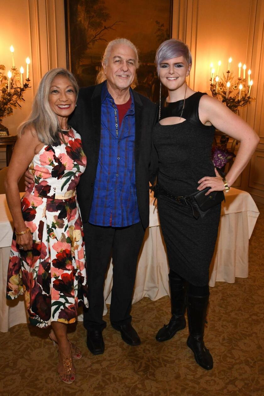Evelyn and Bill Lamden with symphony musician Andrea Overturf (English horn and oboe)