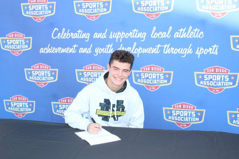 Torrey Pines High senior Logan Gutzwiller signed to play lacrosse at Notre Dame.