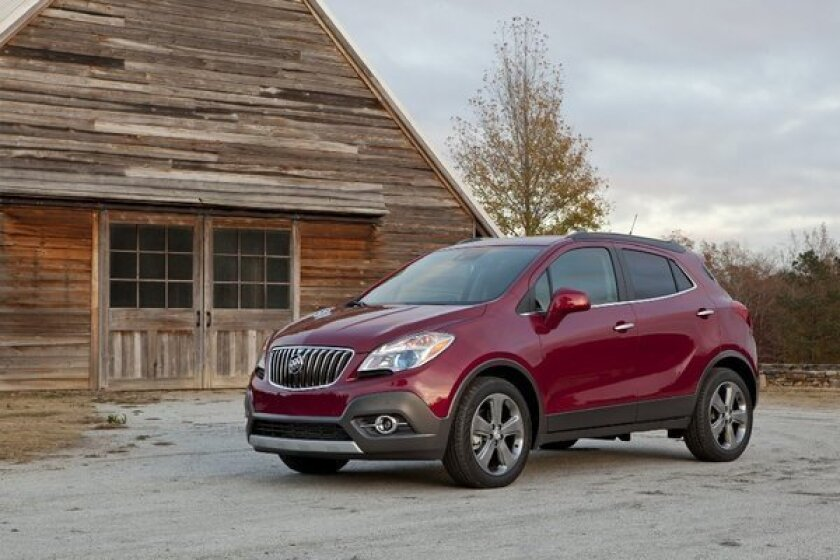 General Motors is recalling 144 model year 2013 Buick Encores with steering wheel fasteners that may not have been properly installed.