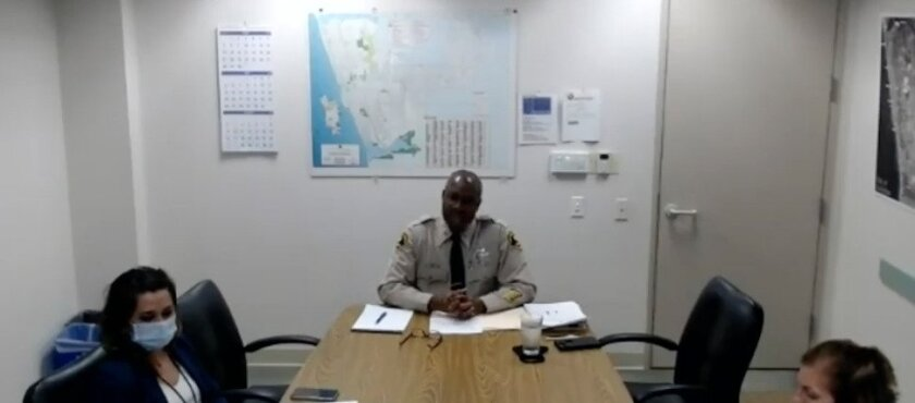 Capt. Herb Taft led a Zoom forum about Encinitas policing.