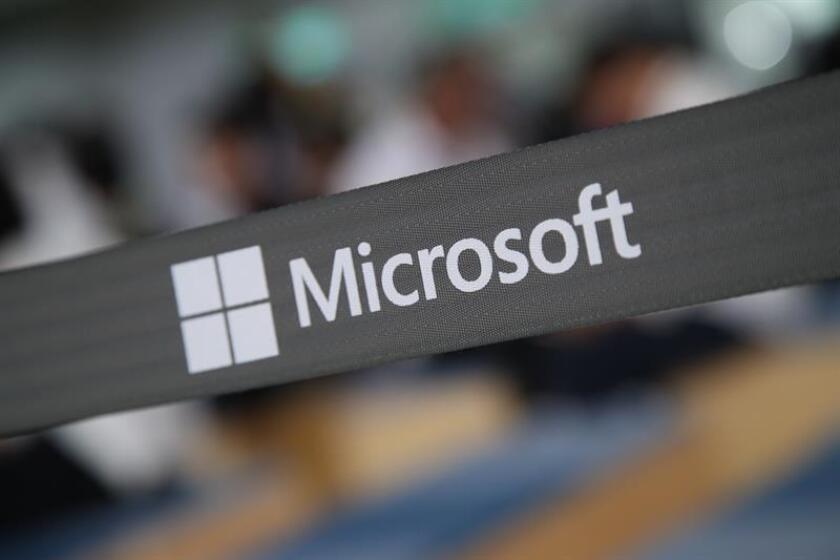 Microsoft logo is pictured during the Computex 2018 in Taipei, Taiwan, 05 June 2018. EFE/EPA