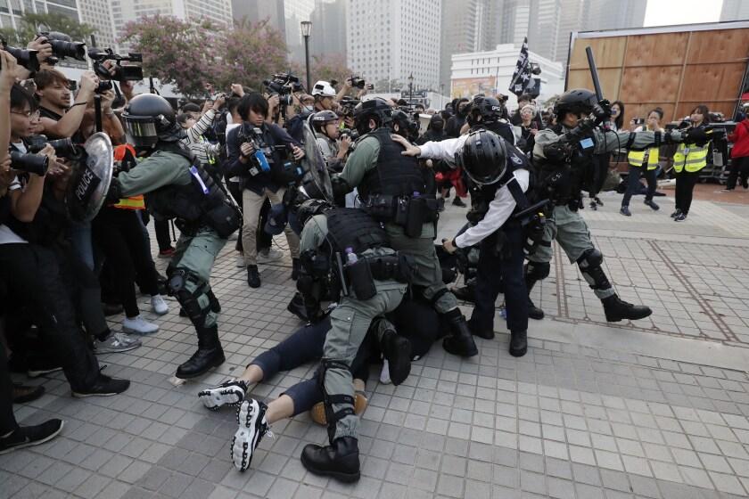 APTOPIX Hong Kong Protests Uighur