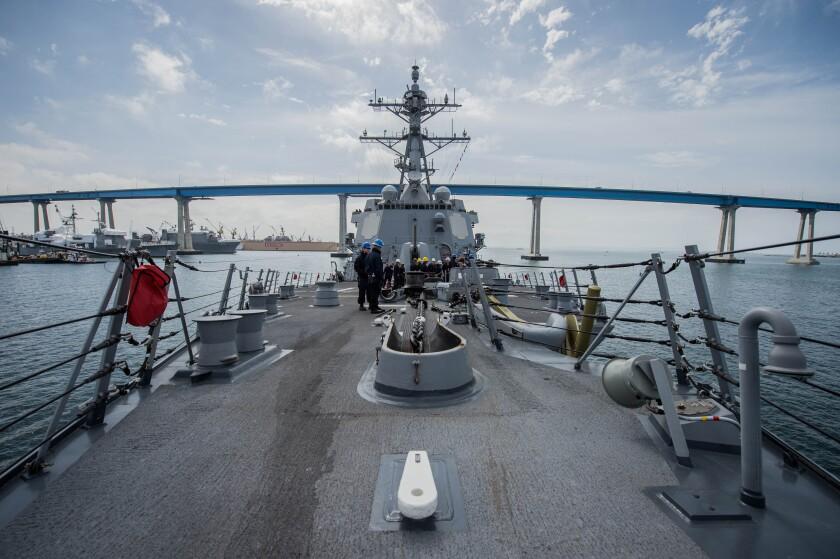 John C. Stennis Carrier Strike Group Cruiser-Destroyer Warships Underway for Surface Warfare Advanced Tactical Training (SWATT)