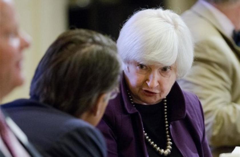 Foto tomada el lunes 6 de junio del 2016 de la presidenta de la Reserva Federal Janet Yellen en un evento en Filadelfia. (AP Foto/Matt Rourke, File)