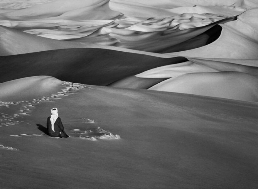 "Photographer Sebastião Salgado is known for his stark documentation of people and the planet. Seen here, detail of ""Sahara, South of Djanet, Algeria,"" from 2009."