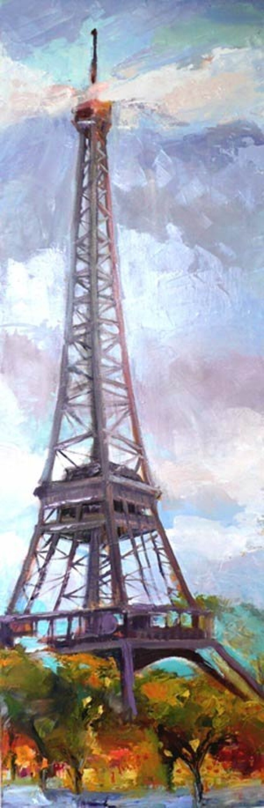'Le Tour Eiffel,' oil, by CherrySweig