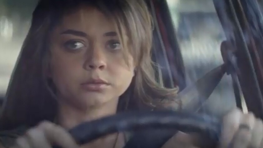 "Sarah Hyland plays Johanna, an artist who left town during a teen pregnancy in ""See You in Valhalla."""