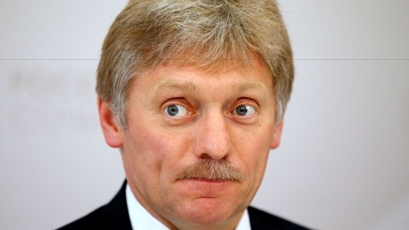 Dmitry Peskov, Russian President Vladimir Putin's press secretary, at a news conference in Sochi, Russia, on May 19, 2016.
