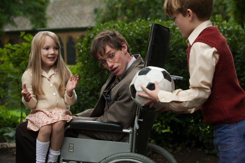 "Eddie Redmayne in ""The Theory of Everything."""