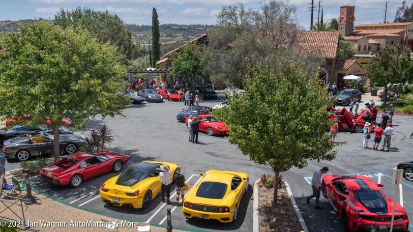 Italian cars on display at Ferraris at Cielo