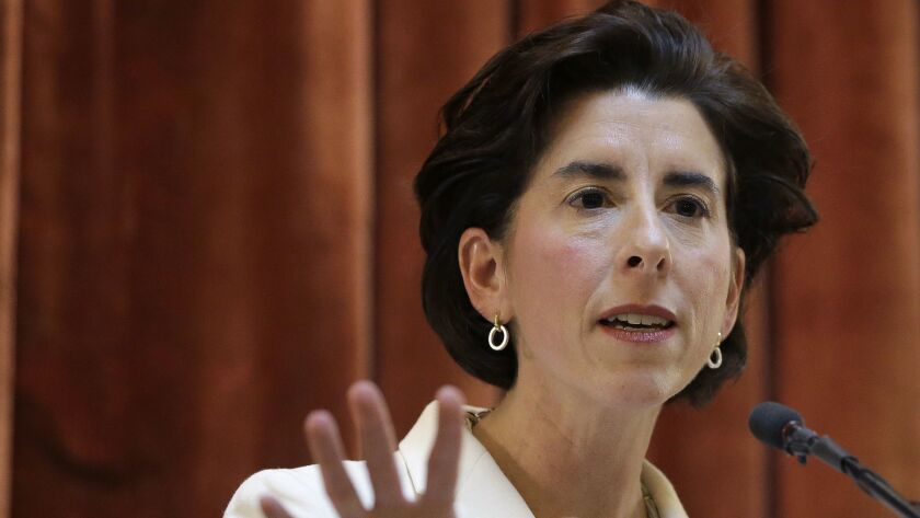 Gov. Gina Raimondo has scheduled three events at Rhode Island beaches to meet with constituents.
